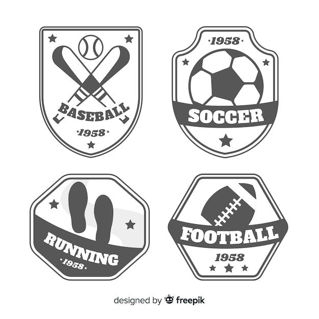 Ensemble moderne de logos de sports abstraits Vecteur gratuit