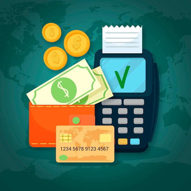 Ensemble moderne de méthodes de paiement Vecteur gratuit