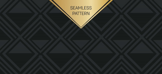 Ensemble de motifs géométriques monochromes. Vecteur Premium