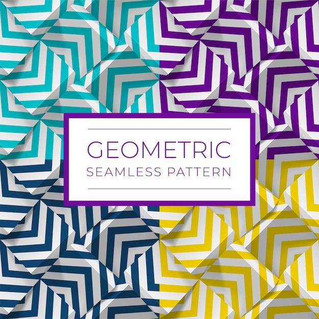 Ensemble De Motifs Géométriques Sans Soudure Colorés. Vecteur Premium