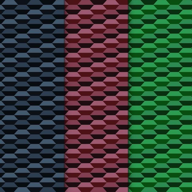 Ensemble De Motifs Géométriques Sombres Vecteur Premium