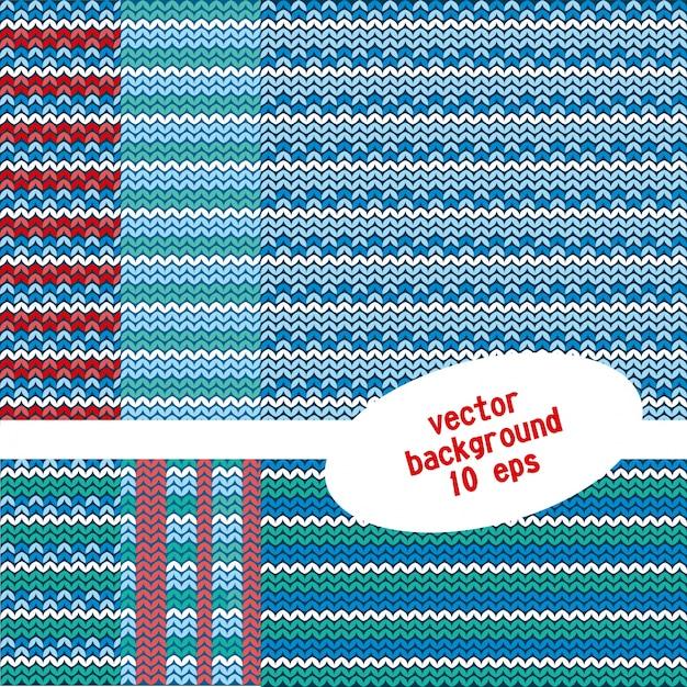 Ensemble de motifs tricotés Vecteur gratuit