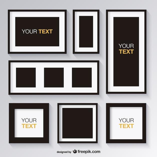 ensemble noir et blanc de cadres t l charger des. Black Bedroom Furniture Sets. Home Design Ideas
