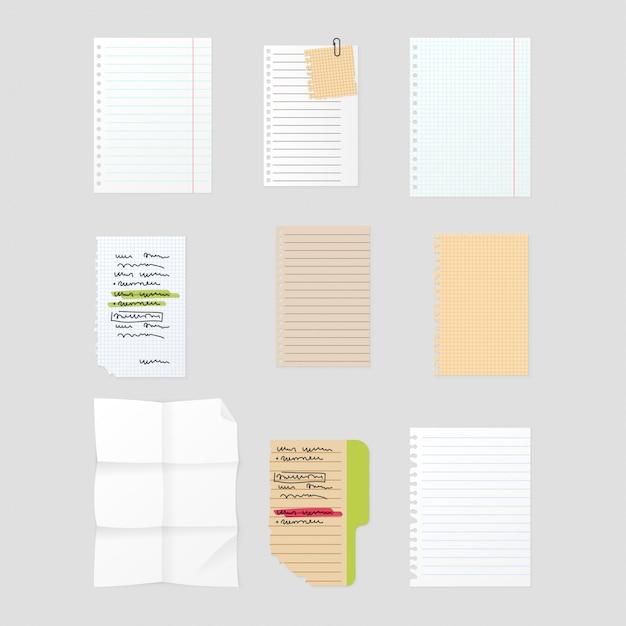 Ensemble De Notes Autocollant Vecteur Premium