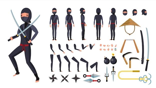 Ensemble d'outils ninja. Vecteur Premium