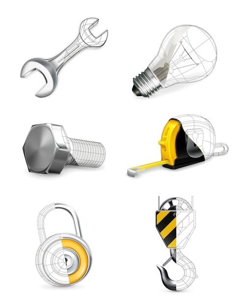 Ensemble D'outils, Vecteur Premium