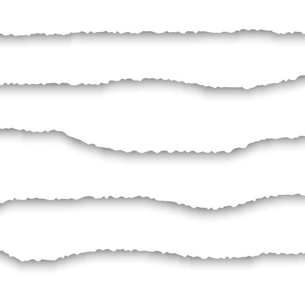 Ensemble de papier déchiré réaliste Vecteur Premium