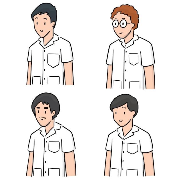 Ensemble de personnel médical Vecteur Premium