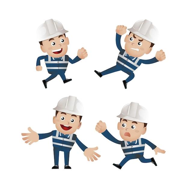 Ensemble De Personnes - Profession - Travailleur. Constructeur Vecteur Premium