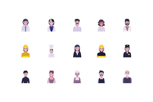 Ensemble De Personnes Et De Travailleurs De La Diversité Vecteur Premium