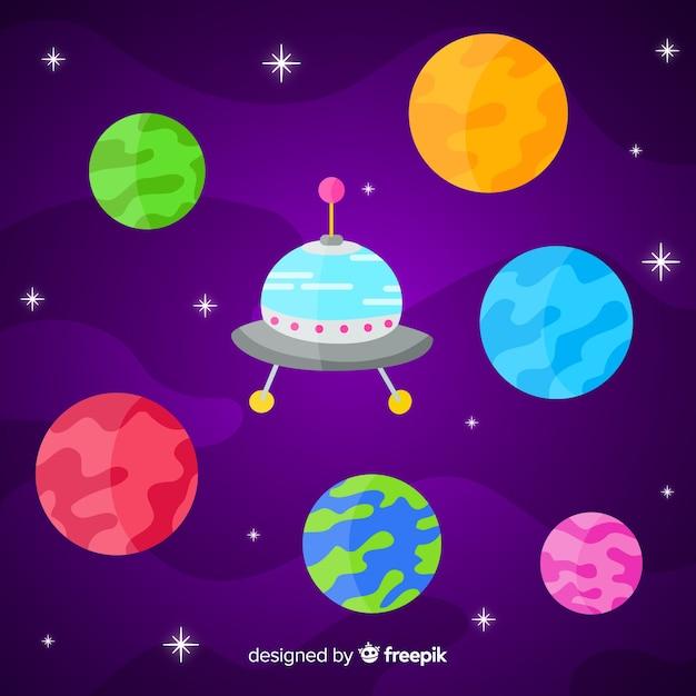 Ensemble De Planètes Design Plat Vecteur gratuit