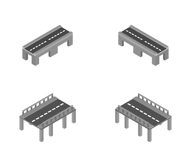 Ensemble De Ponts Isométriques Vecteur Premium