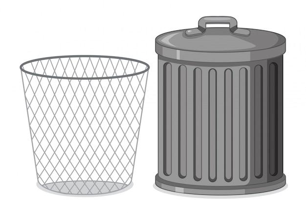 Ensemble de poubelle Vecteur gratuit