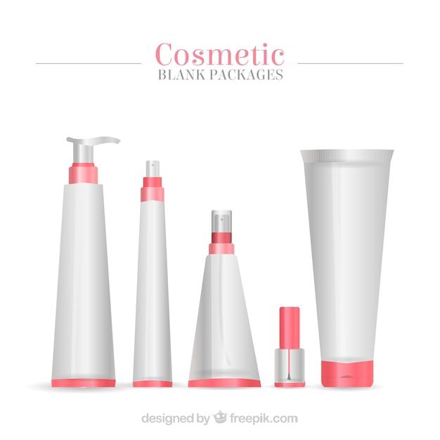 Ensemble De Produits De Beauté D'emballage Vecteur gratuit