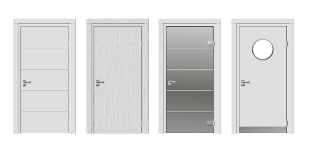 Ensemble de quatre portes modernes Vecteur Premium