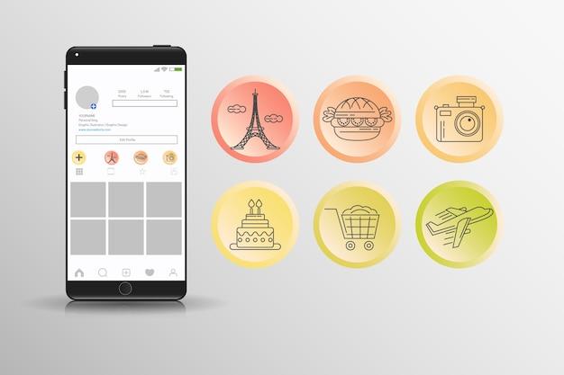 Ensemble De Reflets Instagram Dégradés Vecteur gratuit
