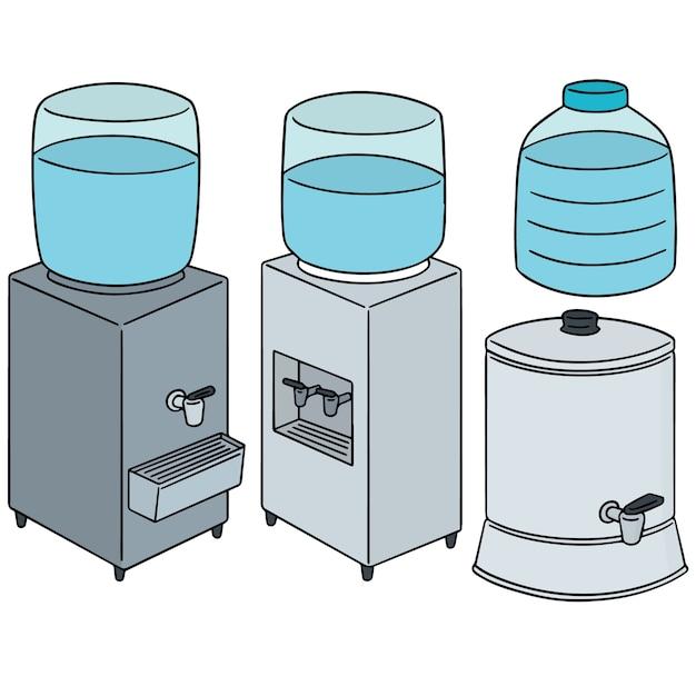 Ensemble de refroidisseur d'eau Vecteur Premium