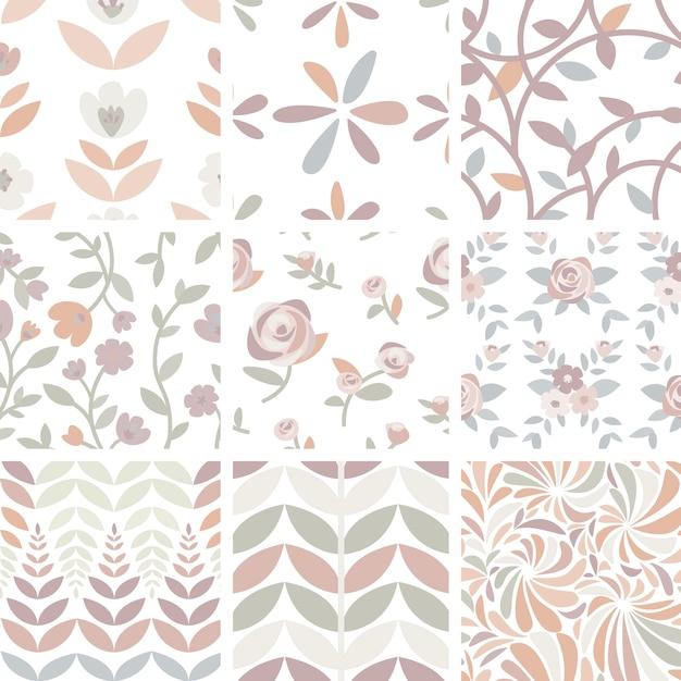 Ensemble de roses et plantes dessinées à la main illustration Vecteur gratuit