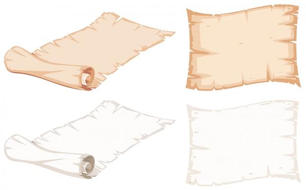 Ensemble de rouleau de papier Vecteur gratuit