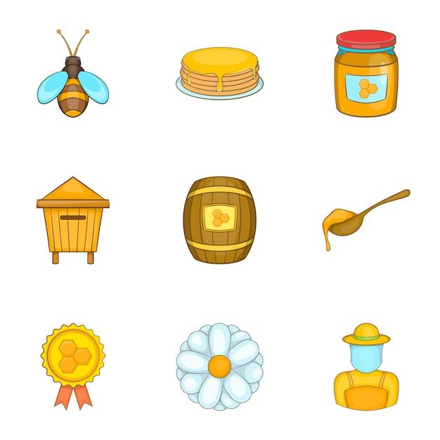 Ensemble de ruches, style cartoon Vecteur Premium