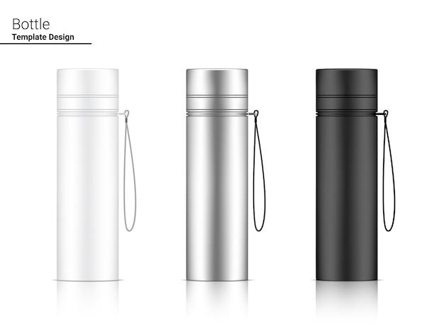 Ensemble De Shaker En Plastique Réaliste 3d De Bouteille Vecteur Premium