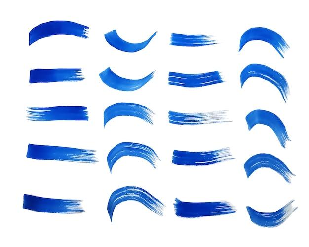 Ensemble De Textures Aquarelle Peintes à La Main Bleue Vecteur gratuit