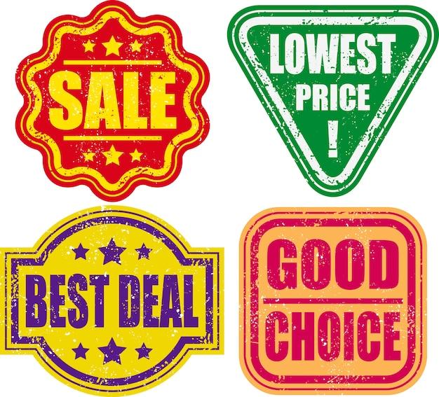 Ensemble de timbre de promotion Vecteur Premium