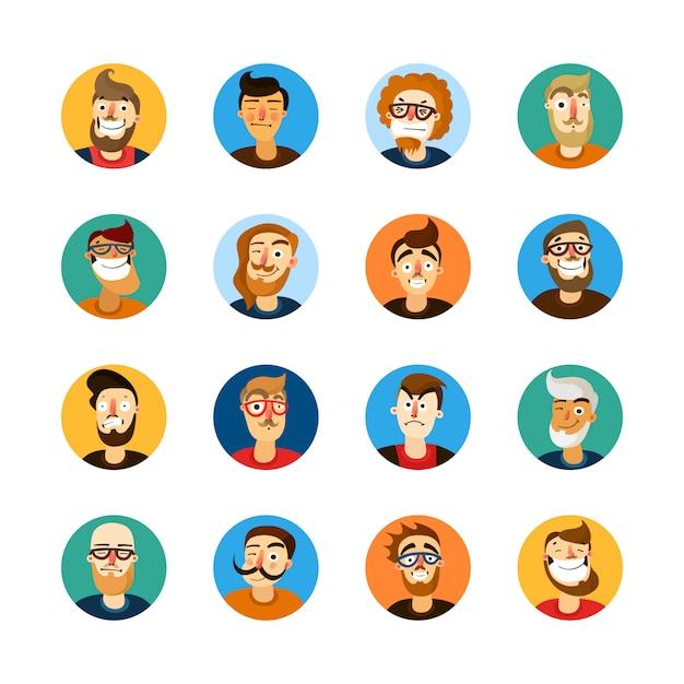 Ensemble userpic homme Vecteur gratuit