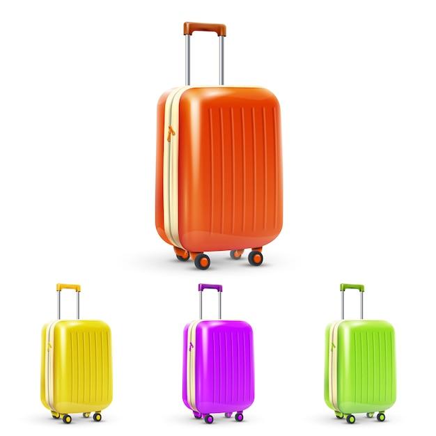 Ensemble de valise de voyage Vecteur gratuit