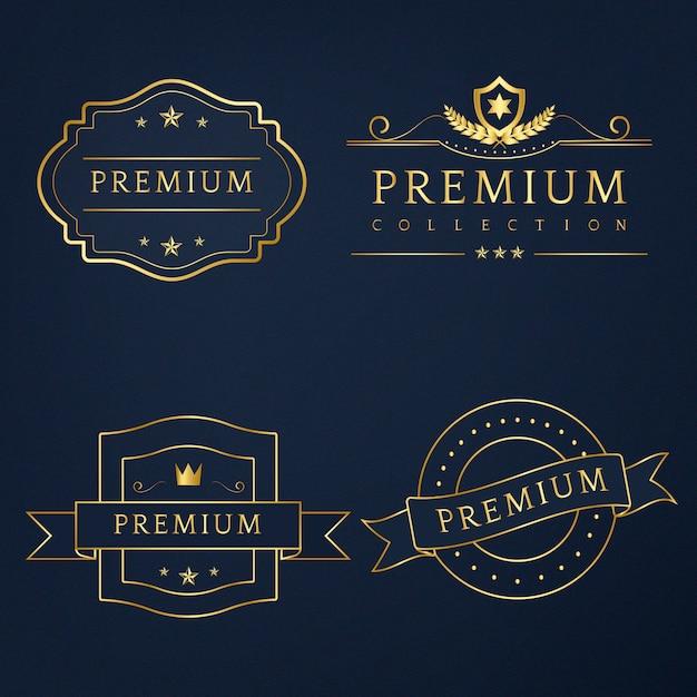 Ensemble de vecteur de badges premium Vecteur gratuit