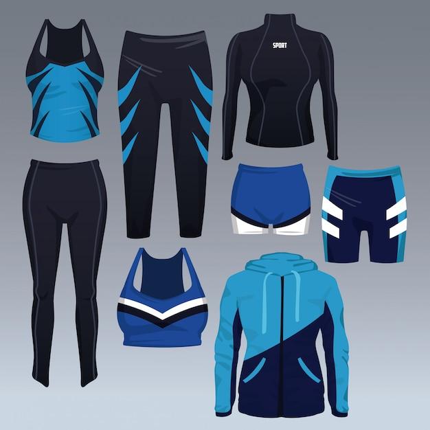 Ensemble De Vecteur De Collection De Vêtements De Sport Vecteur Premium