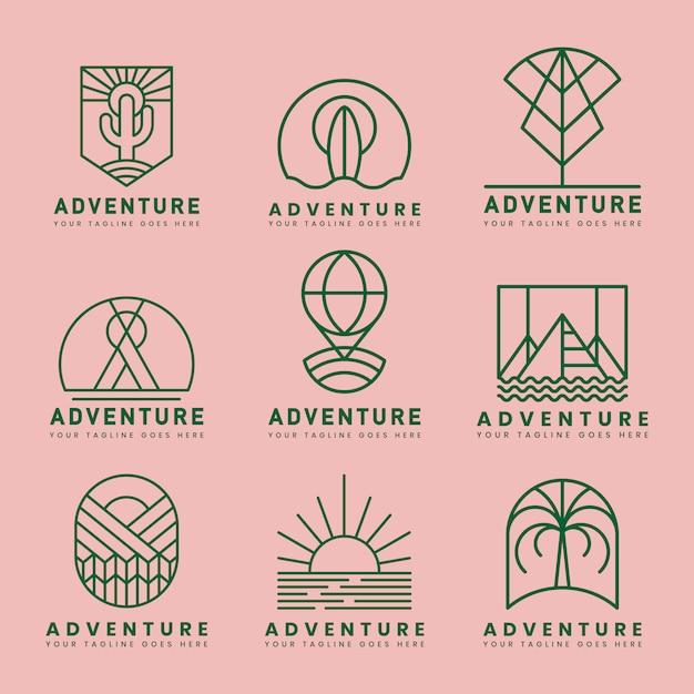 Ensemble De Vecteur De Logo D'aventure Vecteur gratuit