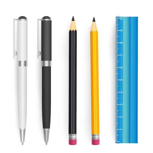 Ensemble de vecteur d'outils scolaires Vecteur Premium