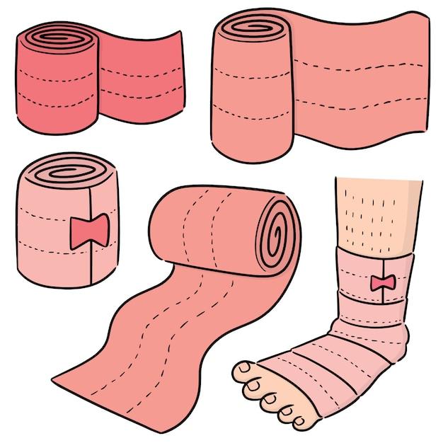 Ensemble de vecteurs de bandage médical Vecteur Premium