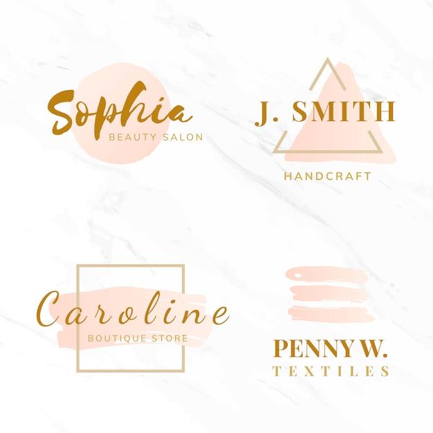 Ensemble de vecteurs de conception de logo beauté et mode Vecteur gratuit