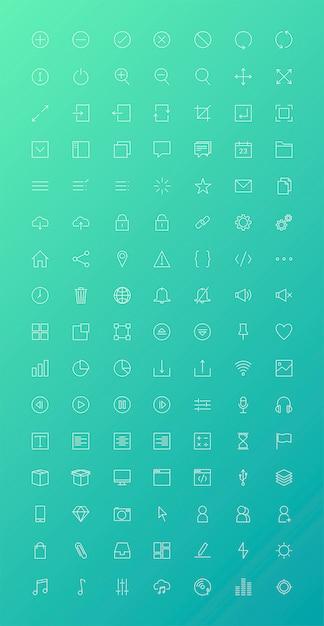 Ensemble de vecteurs d'icône ordinateur Vecteur gratuit