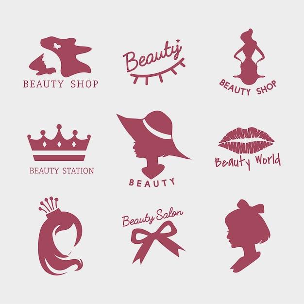 Ensemble de vecteurs d'icône de salon de beauté Vecteur gratuit
