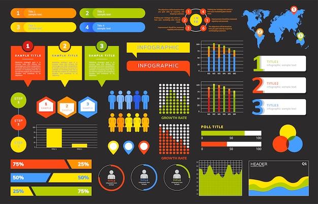 Ensemble de vecteurs infographie affaires Vecteur gratuit