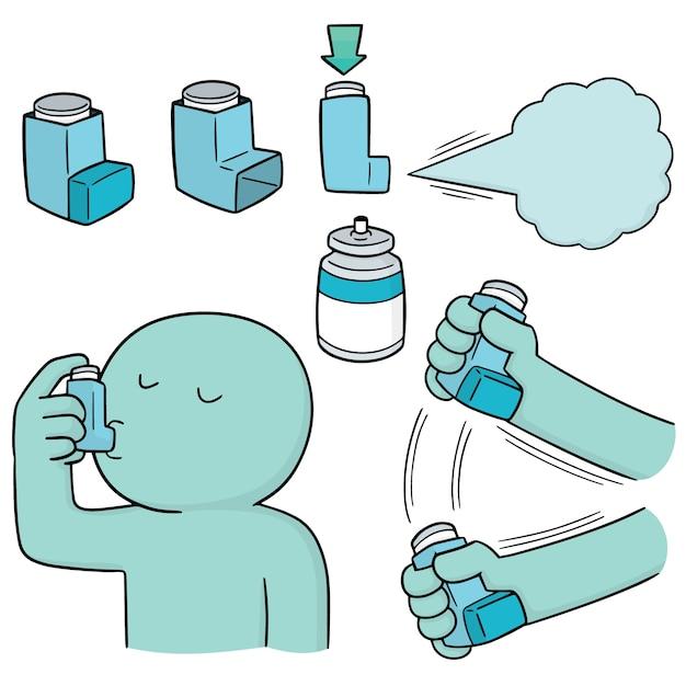 Ensemble De Vecteurs De Médicaments Pour Inhalation Vecteur Premium