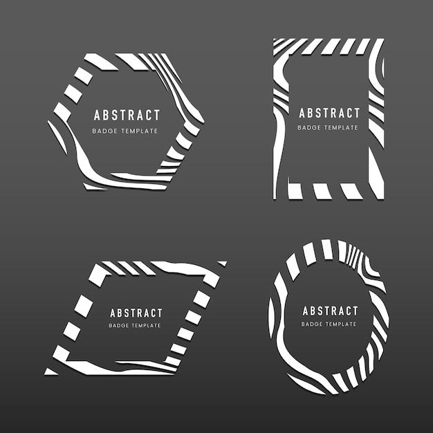 Ensemble de vecteurs de modèle de badge abstrait Vecteur gratuit