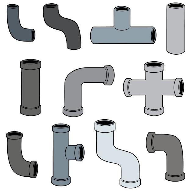 Ensemble de vecteurs de tuyaux Vecteur Premium