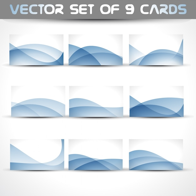 Ensemble Vectoriel De 9 Cartes Visite