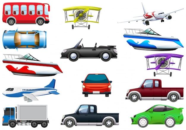 Ensemble de véhicule de transport Vecteur gratuit