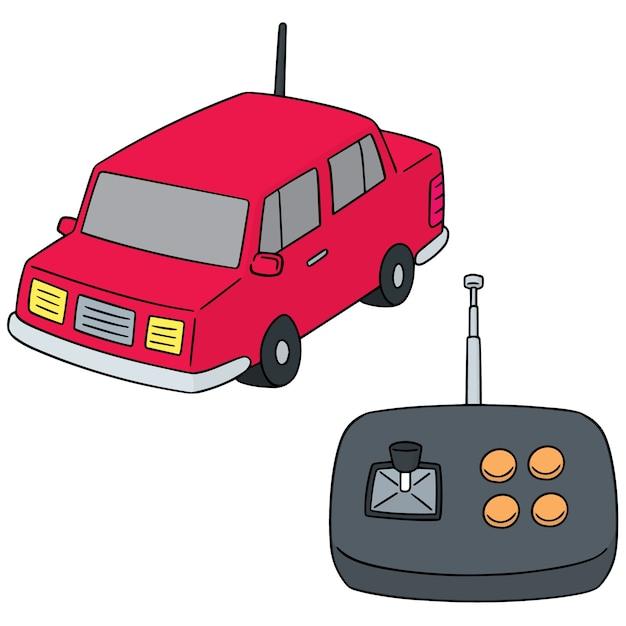 Ensemble de voiture télécommandée Vecteur Premium