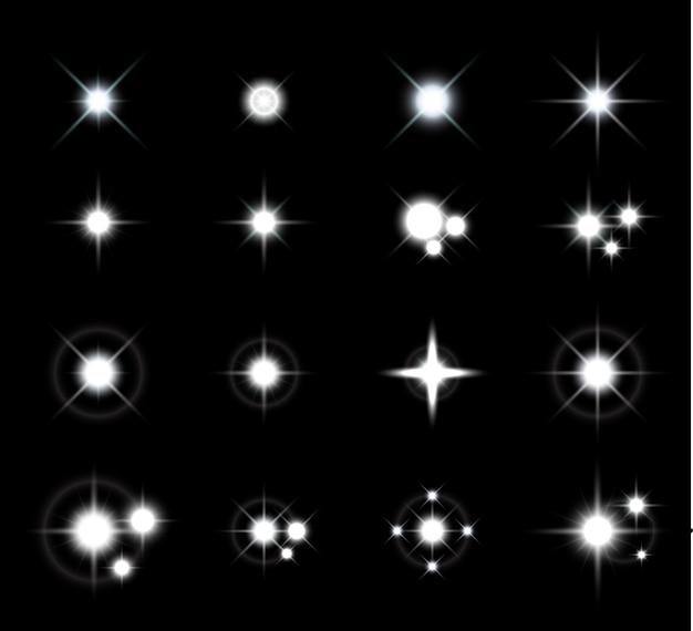 Ensembles d'effets de lumières étoiles Vecteur Premium