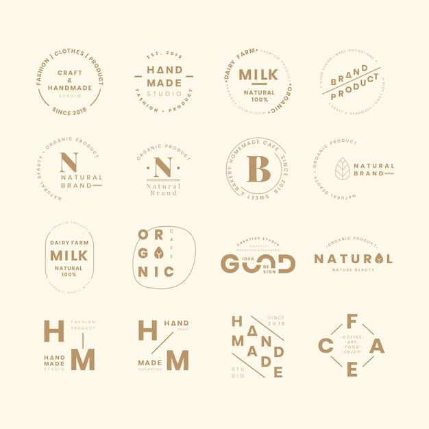 Ensembles De Logo De Marque Vecteur gratuit