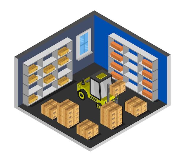 Entrepôt Isométrique Vecteur gratuit