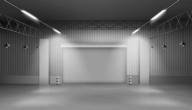Entrepôt Vide, Intérieur De L'entrepôt, Usine Vecteur gratuit