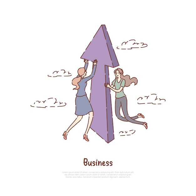 Entrepreneuriat Réussi Vecteur Premium