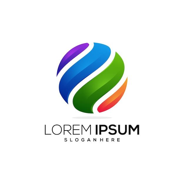 Entreprise Commerciale Icône Logo Coloré Vecteur Premium